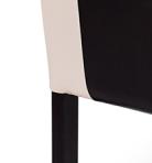 Wenge-beige műbőr barna csíkkal